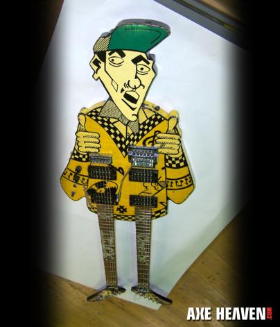 Rick Nielsen Uncle Dick Doubleneck Miniature Guitar Replica Collectible