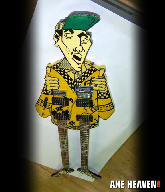 Rick Nielsen Uncle Dick Doubleneck Miniature Guitar Replica Collectible