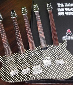 Rick Nielsen Five-Neck Checkered Miniature Guitar