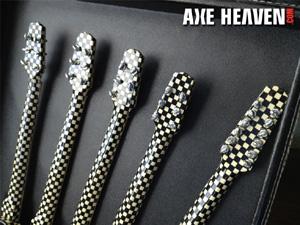Rick Nielsen Five-Neck Checkered Guitar (Head / Metal Tuning Peg Detail)