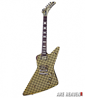 Rick Nielsen Checkered Explorer Miniature Guitar
