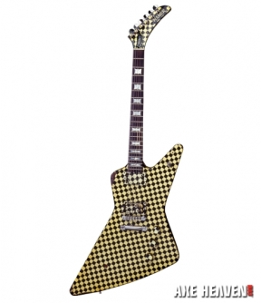 Rick Nielsen Checkered Explorer Mini Guitar