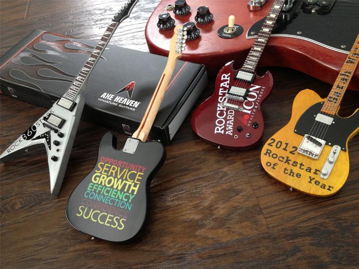 Custom Rockstar Mini Guitar Awards By AXE HEAVEN