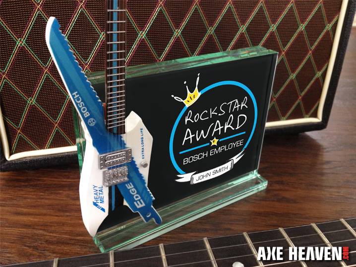 Bosch Employee Rockstar Award with Custom Guitar