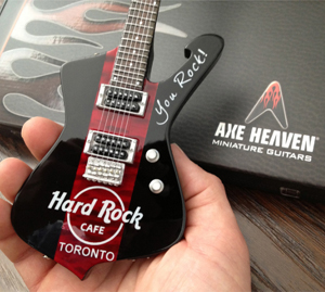 Hard Rock Cafe Toronto Custom Promotional Miniature Guitar by AXE HEAVEN®