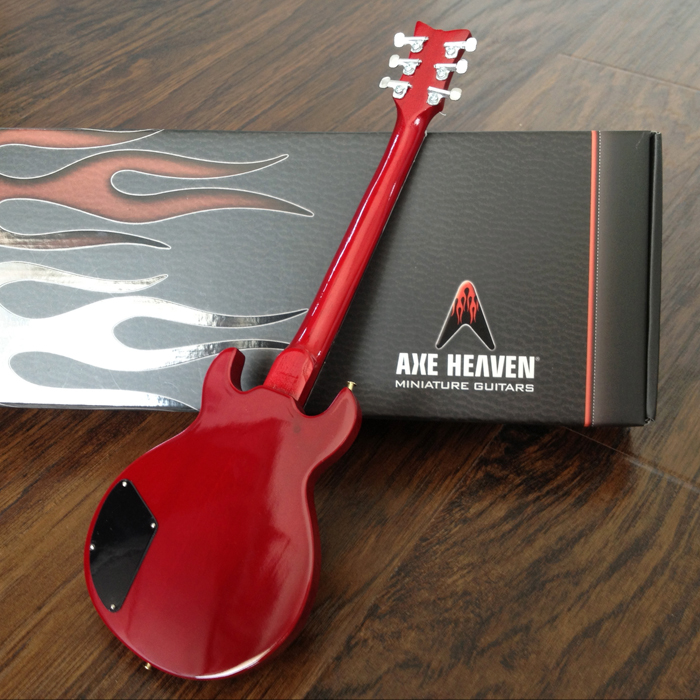 "Back of Zacky Vengeance ""6661"" Mini Guitar by AXE HEAVEN® - A Great Gift for Any Fan of A7X!"