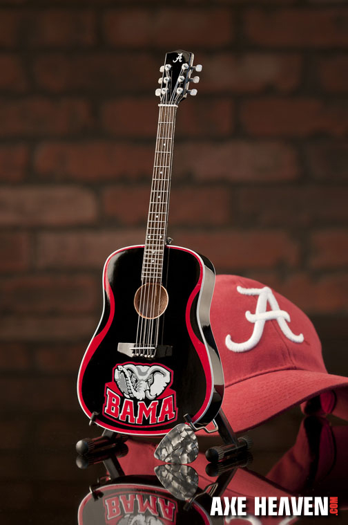 University of Alabama Crimson Tide Miniature Guitar Replica Collectible