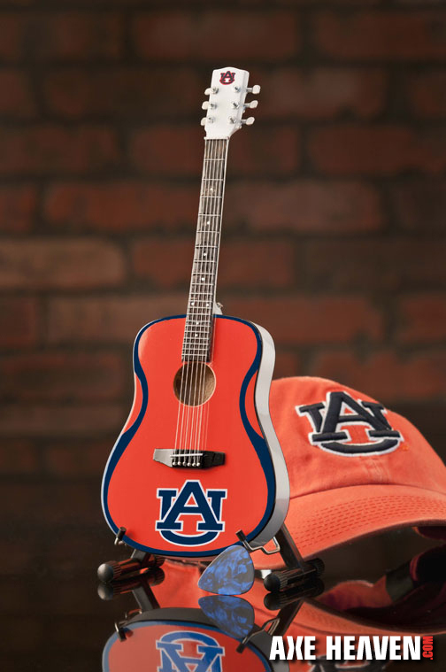 Auburn University War Eagles Miniature Guitar Replica Collectible
