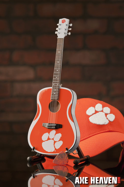 Clemson University Tigers Miniature Guitar Replica Collectible