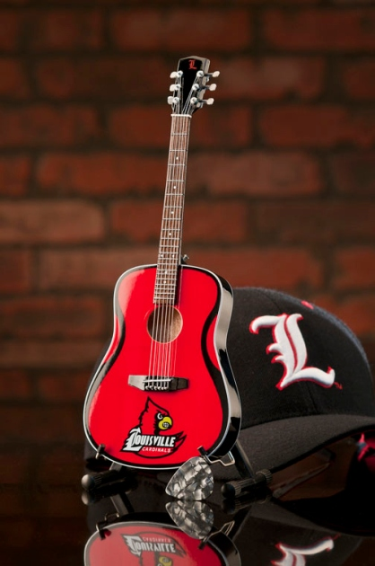University of Louisville Cardinals Miniature Guitar Replica Collectible