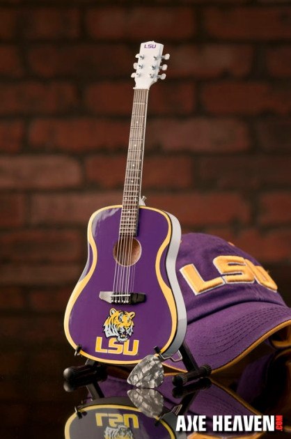 Louisiana State University Tigers Miniature Guitar Replica Collectible
