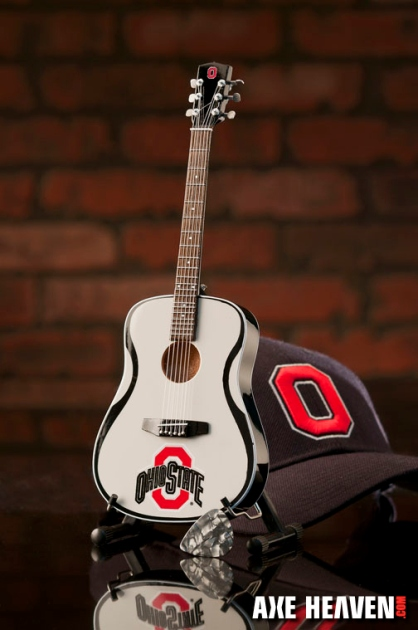 The Ohio State University Buckeyes Miniature Guitar Replica Collectible