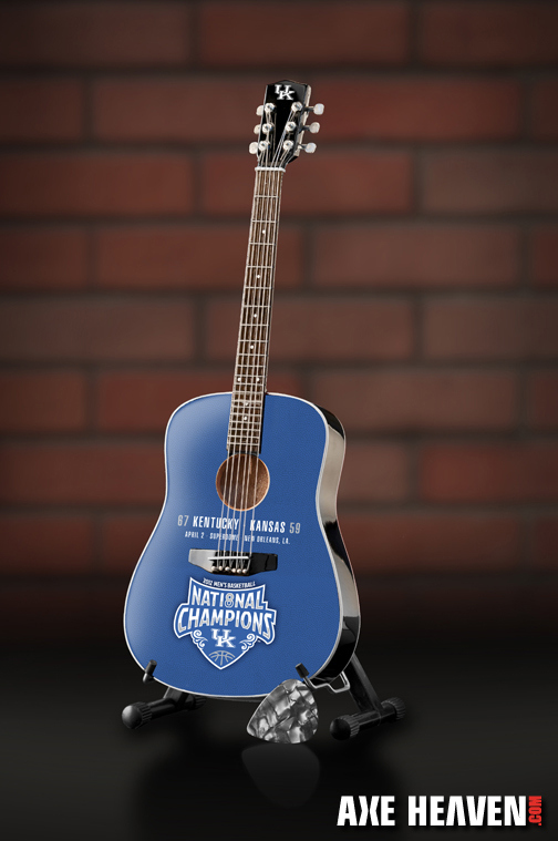 University of Kentucky Wildcats National Champions Miniature Guitar