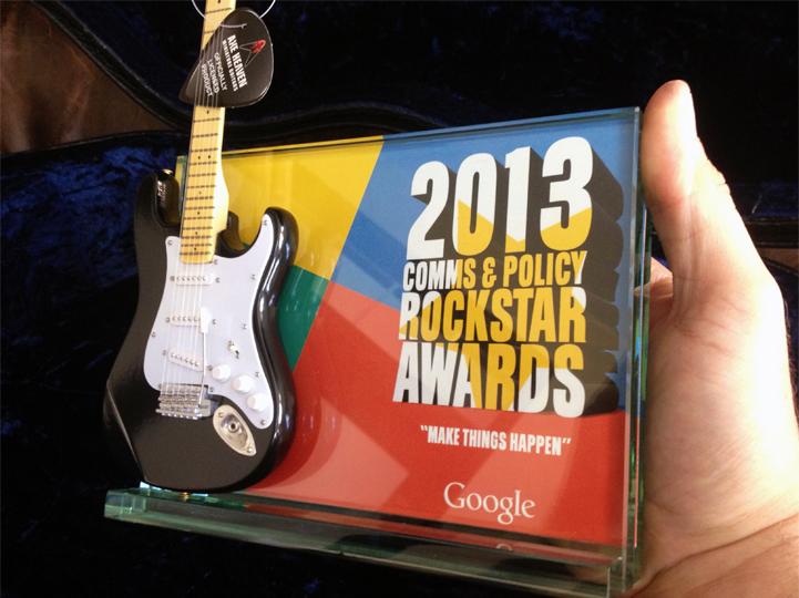Google Rock Star Award Plaque/Trophy by AXE HEAVEN®