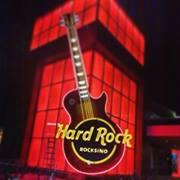 Hard Rock Rocksino Sign in Northfield Park, near Cleveland