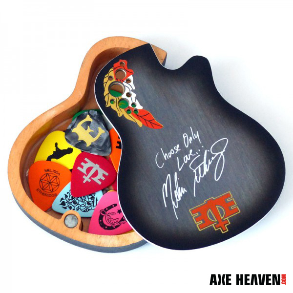 Promotional Musician Accessories: Melissa Etheridge Custom Pick Box by AXE HEAVEN®