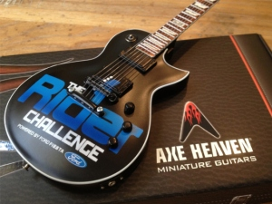 Ford Fiesta & Live Nation Entertainment Custom Promotional Miniature Guitar by AXE HEAVEN®