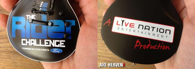 Ford Fiesta & Livenation Entertainment Custom Promotional Miniature Guitar by AXE HEAVEN®