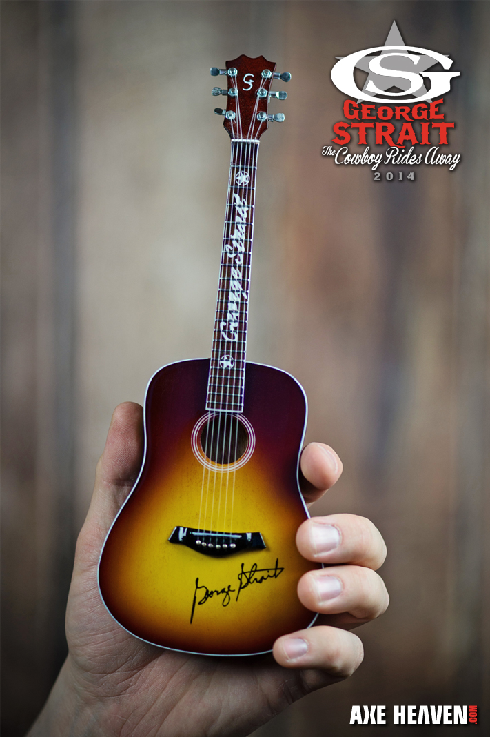 George strait the cowboy rides away vip tour gift mini guitar by axe axeheaven 1george strait mini guitar1 m4hsunfo Gallery
