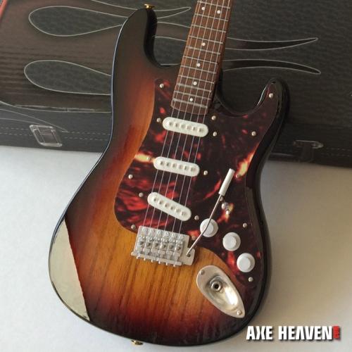Officially Licensed Mini Sunburst Fender™ Strat™ Guitar Tortoise Pickguard Model