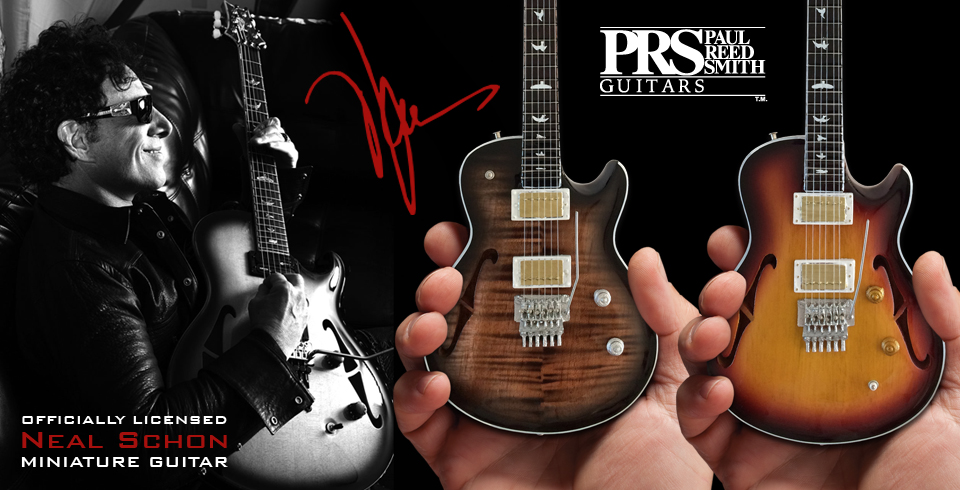 Buy Officially Licensed Neal Schon PRS Minaiture Guitar Replica Collectibles by AXE HEAVEN®