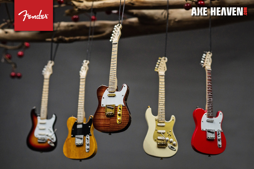 NEW 2014 Mini Fender Christmas Guitar Ornaments  AXE HEAVEN