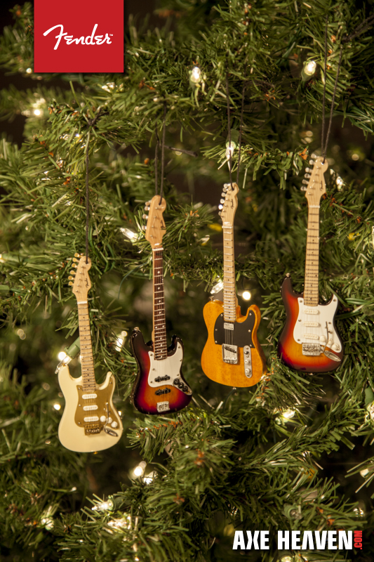 NEW 2014 Mini Fender Christmas Guitar Ornaments! – AXE HEAVEN ...