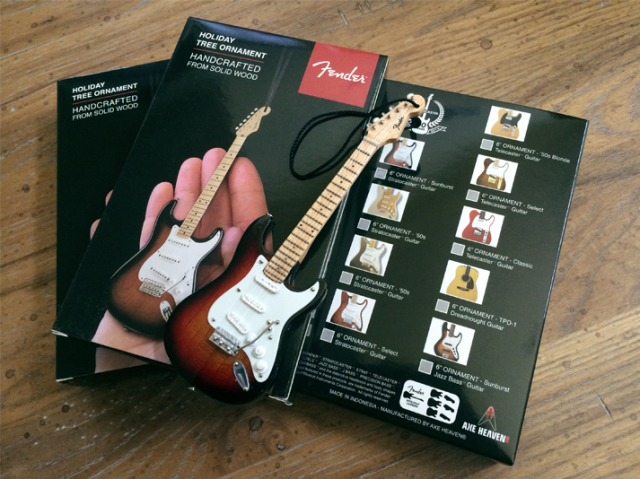 Gift Box for Officially Licensed Fender™ Stratocaster™, Telecaster™, and Jazz Bass™ Guitar Ornaments by AXE HEAVEN®