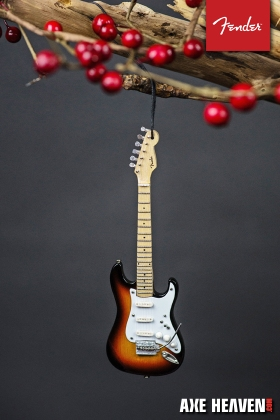 Officially Licensed Fender™ Stratocaster™ Guitar Ornaments by AXE HEAVEN®