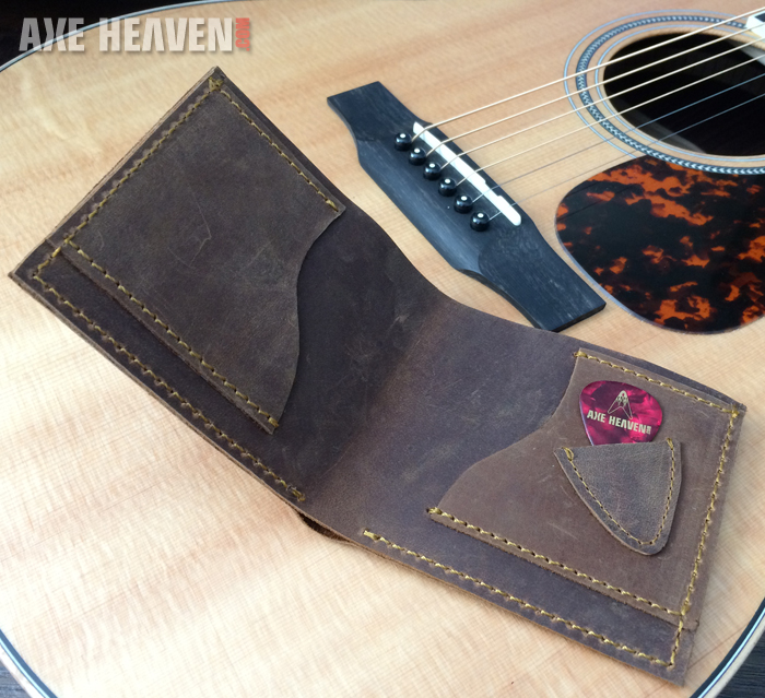 Handmade Genuine Leather Guitar Wallet Collection By Axe
