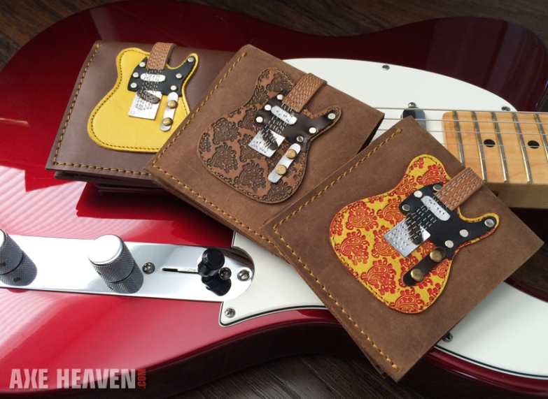 Handmade Genuine Leather Guitar Wallet Collection by AXE HEAVEN