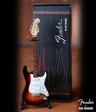 Officially Licensed Miniature Classic Sunburst Fender™ Strat™ Guitar Replica