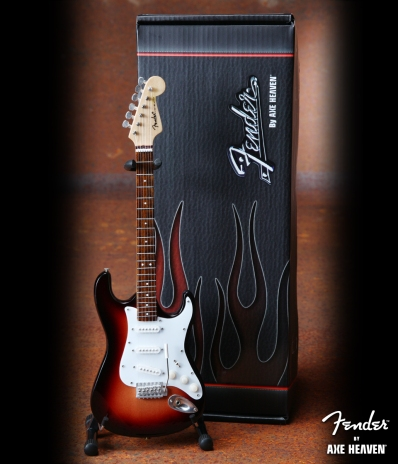 Officially Licensed Miniature Classic Sunburst Fender™ Strat™ Guitar Replica