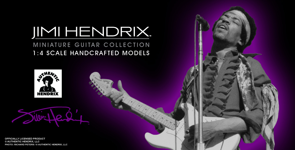 Buy Officially Licensed Jimi Hendrix™ Minaiture Guitar Replica Collectibles by AXE HEAVEN®