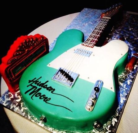 Hudson Moore Guitar Cake