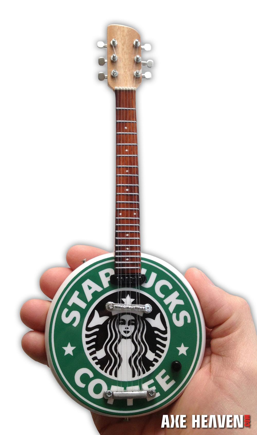 Custom Shaped Guitar - Starbucks Logo