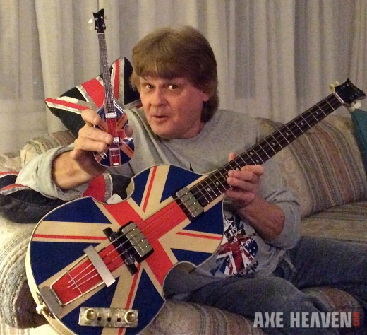 Union Jack Violin Bass & Mini Replica