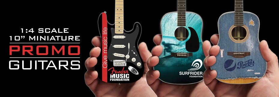 Promotional Miniature Guitars by AXE HEAVEN®