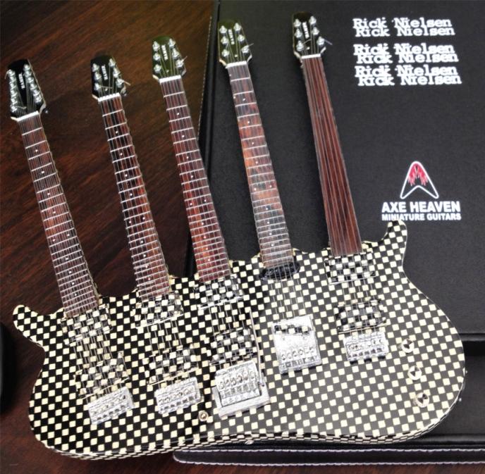 Rick Nielsen Five-Neck Checkered Guitar