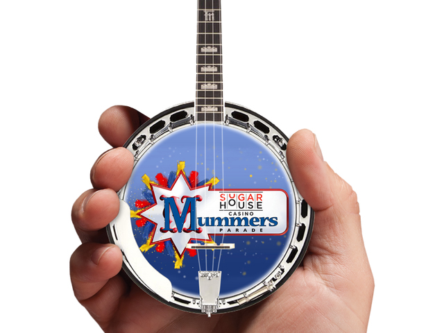 Custom Promotional Miniature Banjo for Sugar House Casino by AXE HEAVEN®