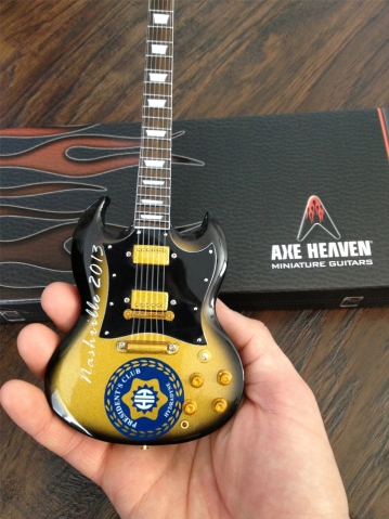 Hydradyne - Nashville 2013 Custom Promotional Miniature Guitar by AXE HEAVEN®