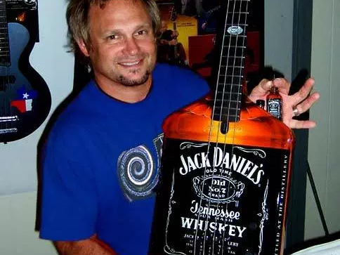 Jack Daniel's Promotional Miniature Bass Guitar by AXE HEAVEN®