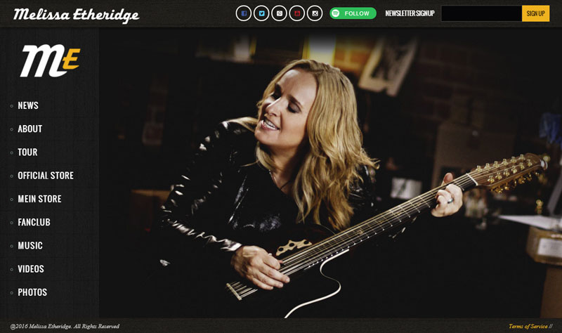 Shop at Melissa Etheridge Web Store (opens in new window)