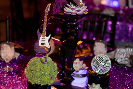 Event Planner Brad Austin Uses AXE HEAVEN® Guitars for Eye-Catching Table Decorations