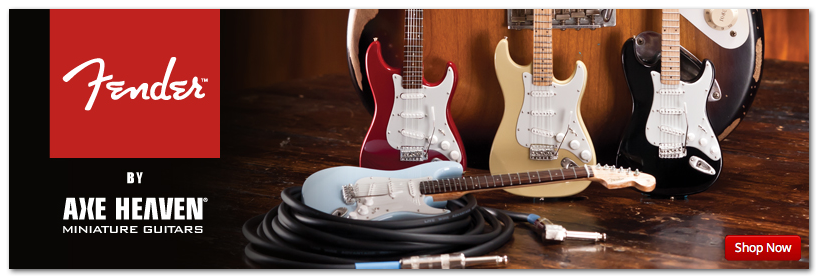 Fender™ Mini Guitars by AXE HEAVEN® Officially Licensed Merchandise