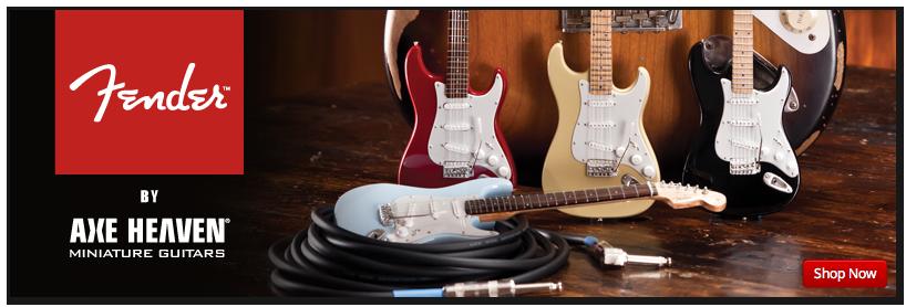 Fender™ Mini Guitars by AXE HEAVEN® Officially Licensed Merchandise