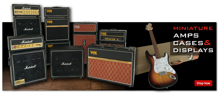 Handcrafted Mini Amps, Mini Guitar Cases, and Miniature Guitar Displays