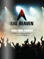 AXE HEAVEN® Biography (PDF opens in new window)