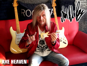 Axel Rudi Pell - Miniature Guitar by AXE HEAVEN®