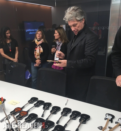 Bon Jovi Signs Mini Guitar